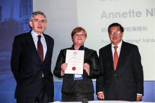 BSN全球校董会主席奈斯安女士出席中欧盛会并出任中外企业家联合会顾问委员会委员